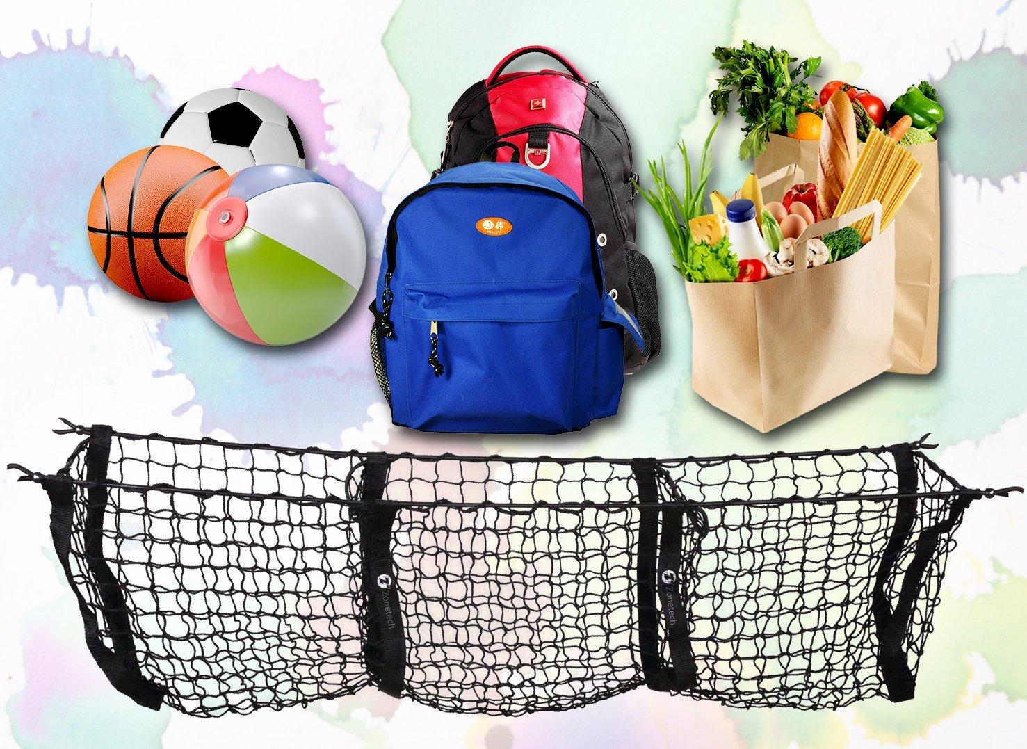 Bicycle Basket Handlebar Bag Black Zone Tech Premium Quality Handlebar Bag with Reflective Stripe for Outdoor Activity