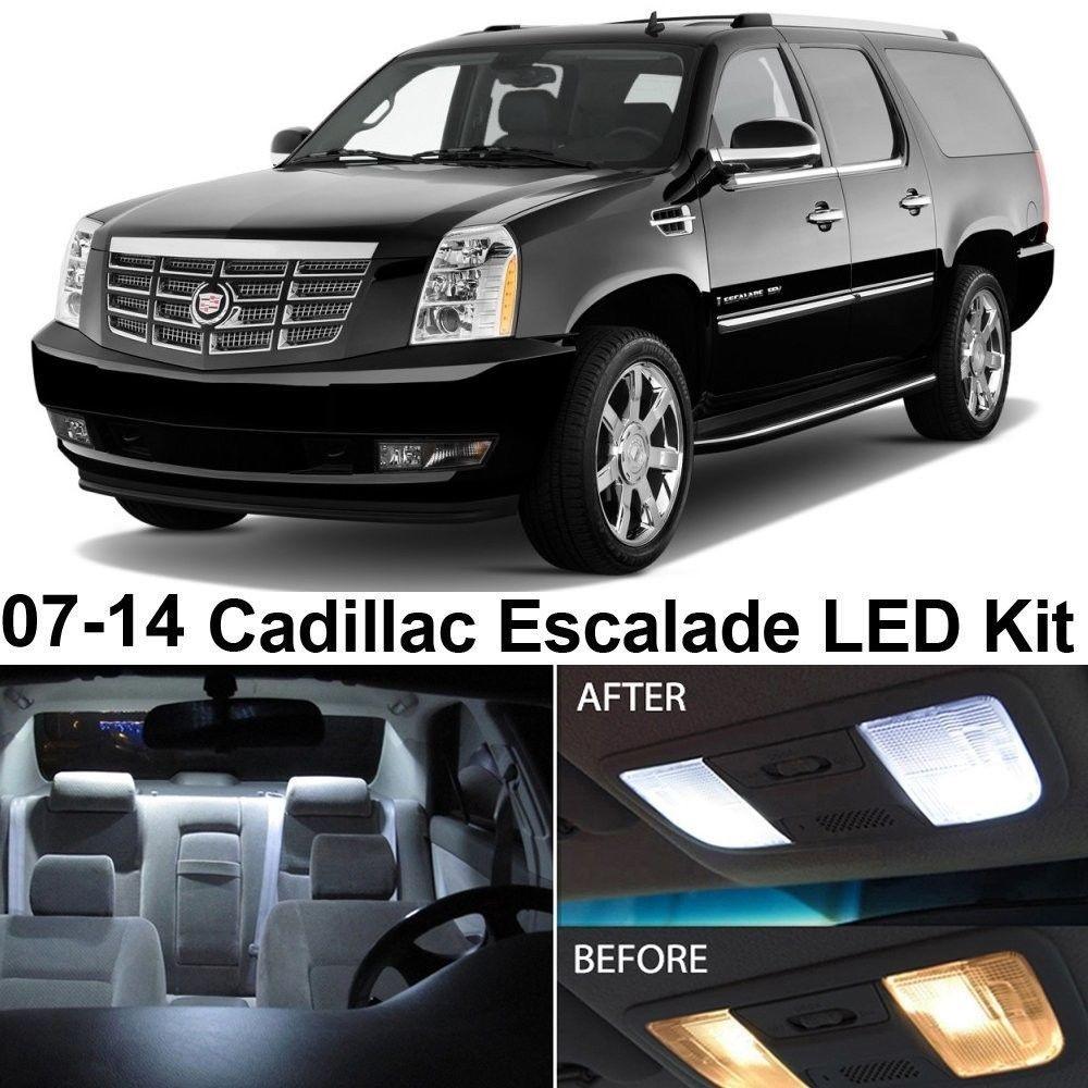 Auto Accessories Headlight Bulbs Car Gifts Cadillac Escalade 2007 2014 White Led Interior