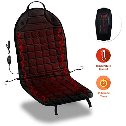 Premium Quality 12V Automotive Comfortable Pad Cover-Perfect for Cold Weather and Winter Driving Zone Tech Car Travel Seat Cover Cushion