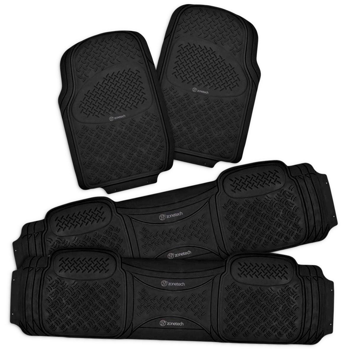 All Weather Protector 4 Piece Set AutoTech Zone Heavy Duty Custom Fit Car Floor Mat for 2011-2015 Kia Optima Sedan Black