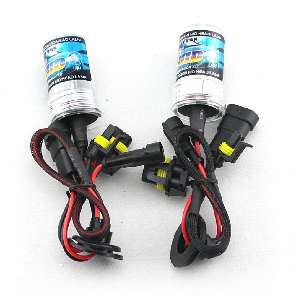 Set Of 2 HID 9007 6000K Xenon Replacement Headlight Light Bulbs Zone Tech