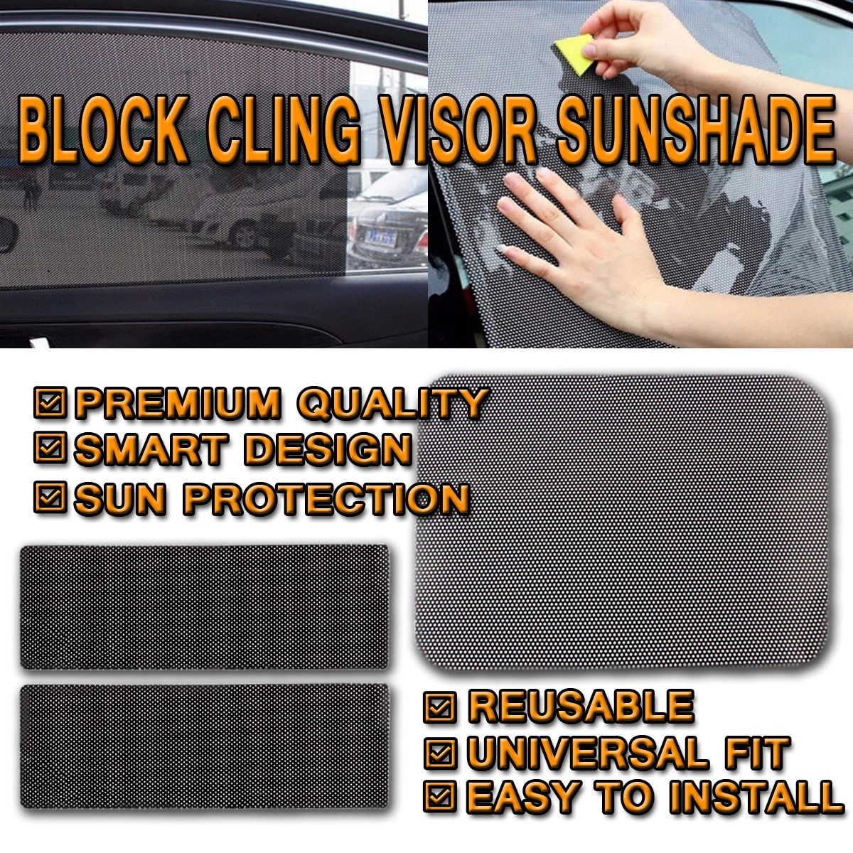 Cling On Sun Glare Blockers set of  2
