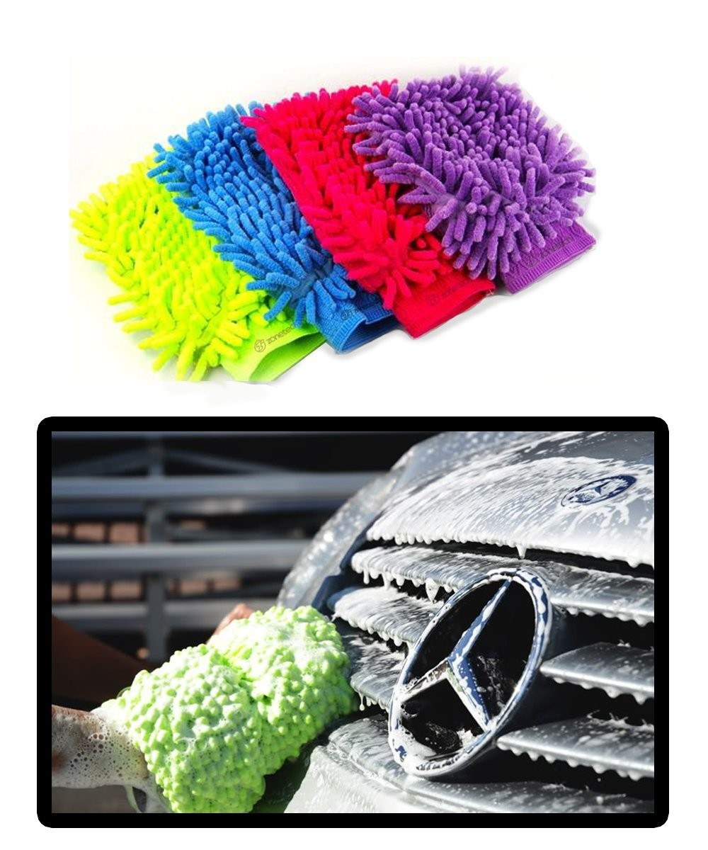 Micro Fiber Car Wash Mitt- Set of 2