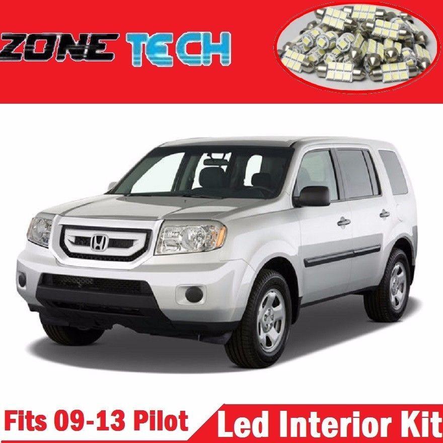 Zone Tech 17x Honda Pilot 09 13 Pure White Led Interior Lights Package Combo Kit