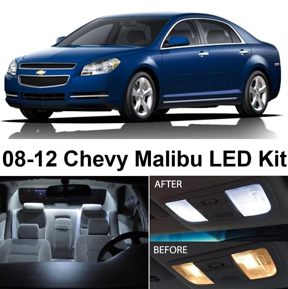 Chevy Malibu 2008 2017 Xenon White Led Interior Lights Package Kit 5 Pieces