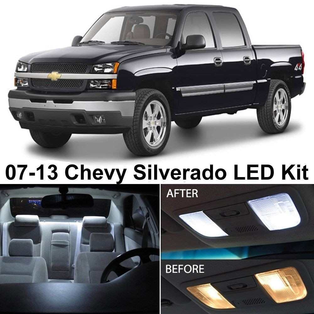 Auto accessories headlight bulbs car gifts chevy - Led interior lights for 2013 chevy silverado ...