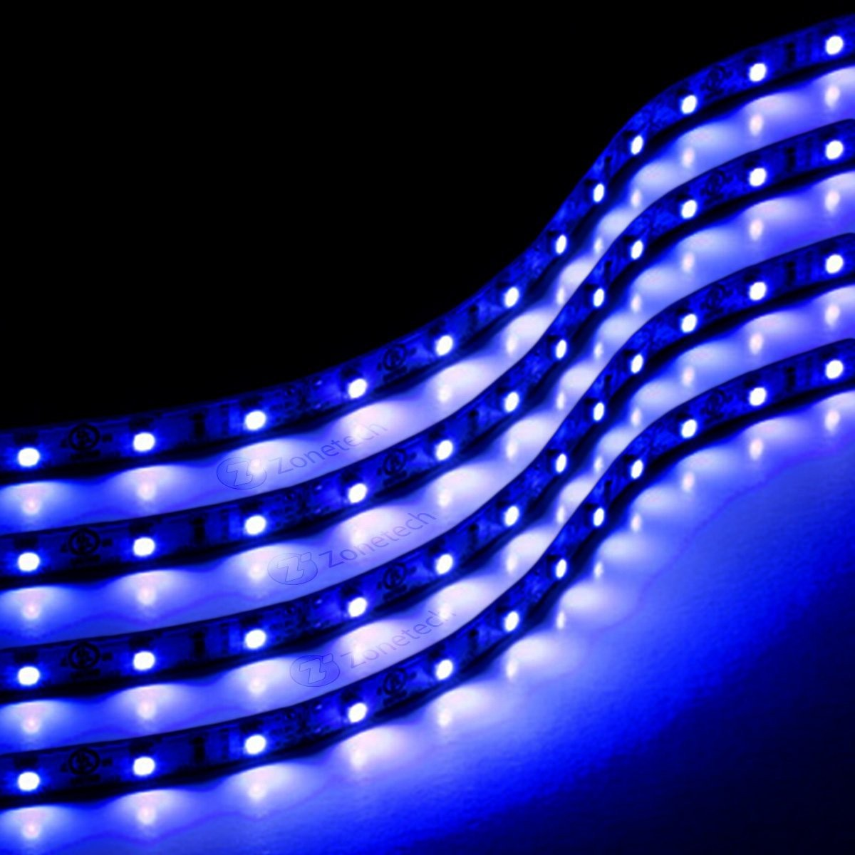 auto accessories headlight bulbs car gifts blue 30 cm flexible led strips set of 4. Black Bedroom Furniture Sets. Home Design Ideas