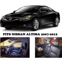 Nissan Altima 2007-2012 White Interior LED Package (7 Pieces)