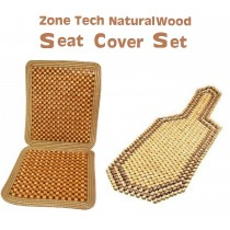 Seat Cushion Combo 2 Tone Natural Wood Beaded Seat Cushion+ Natural Wood  Full Seat Cushion