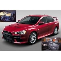 White LED Lights Interior Package Deal Lancer Evo X 2008-2012 (6 Pieces)