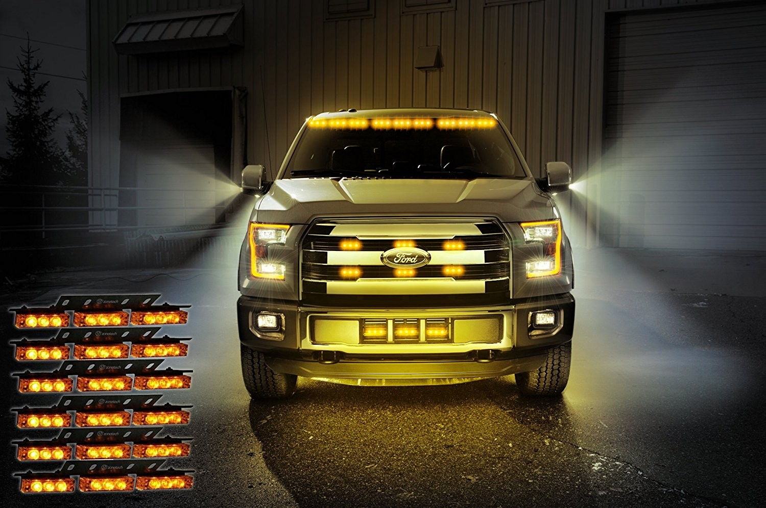 Auto Accessories Headlight Bulbs Car Gifts Zone Tech Amber Led Emergency Service Vehicle