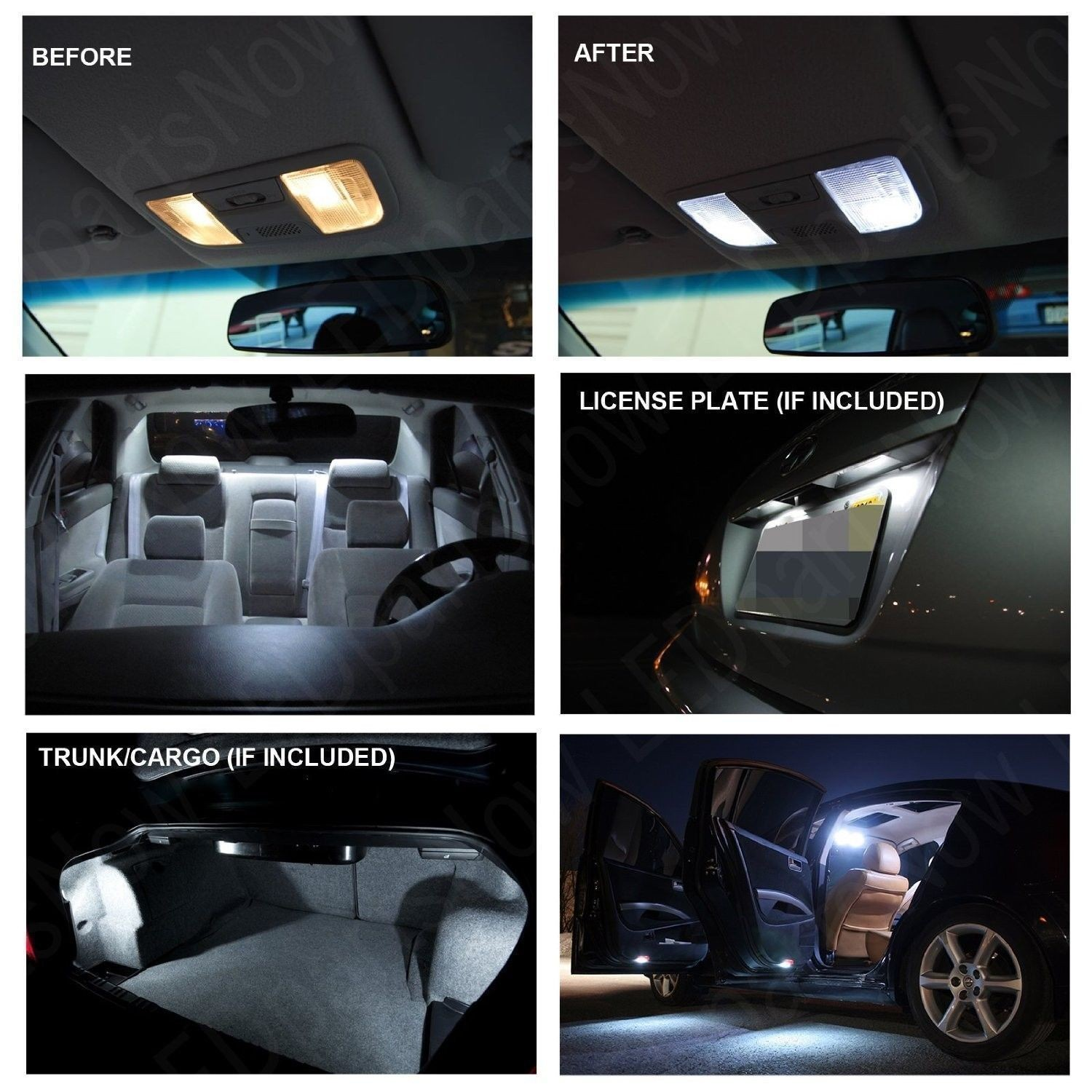 Chrysler 300 2005 2010 Xenon White Led Interior Lights Package Kit 6 Pieces Click To Enlarge