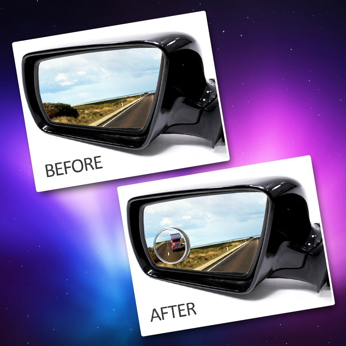 Auto Accessories Headlight Bulbs Car Gifts Car Round Blind Spot