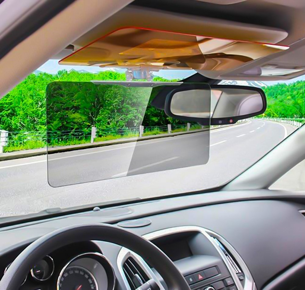 Automotive windshield anti glare strip